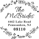 Picture of McBride Wood Mounted Address Stamp