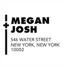 Picture of Megan Wood Mounted Address Stamp