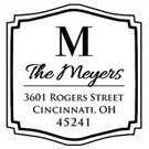 Picture of Meyers Wood Mounted Address Stamp