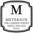 Picture of Meyerson Wood Mounted Address Stamp