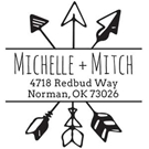 Picture of Michelle Wood Mounted Address Stamp