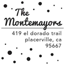 Picture of Montemayor Wood Mounted Address Stamp