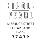 Picture of Nicole Wood Mounted Address Stamp