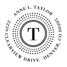 Picture of Taylor Wood Mounted Address Stamp