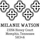 Picture of Watson Wood Mounted Address Stamp