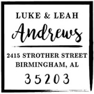 Picture of Andrews Wood Mounted Address Stamp
