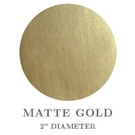"2"" Round Matte Gold Paper Embossing Seals"