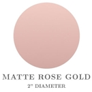 "Picture of 2"" Round Matte Rose Gold Embossing Seals"