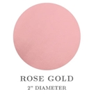 "Picture of 2"" Round Rose Gold Embossing Seals"