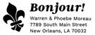Picture of Bonjour Rectangular Address Stamp