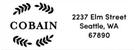 Picture of Cobain Rectangular Address Stamp
