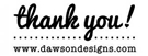 Picture of Dawson Rectangular Thank You Stamp