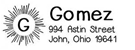 Picture of Gomez Rectangular Address Stamp