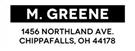 Picture of Greene Rectangular Address Stamp