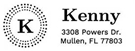 Picture of Kenny Rectangular Address Stamp