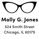 Molly Wood Mounted Address Stamp