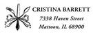 Picture of Cristina Rectangular Address Stamp