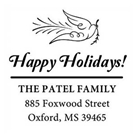 Picture of Patel Wood Mounted Holiday Stamp