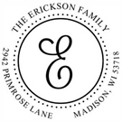 Picture of Erickson Wood Mounted Address Stamp