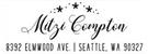 Picture of Mitzi Rectangular Holiday Stamp