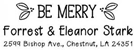 Picture of Eleanor Rectangular Holiday Stamp