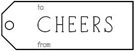 Picture of Cheers Rectangular Holiday Stamp