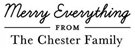 Picture of Chester Rectangular Holiday Stamp