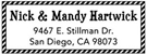 Picture of Mandy Rectangular Holiday Stamp