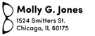 Picture of Molly Rectangular Address Stamp