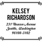 Picture of Kelsey Wood Mounted Address Stamp