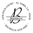 Picture of Blackburn Wood Mounted Address Stamp