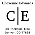Picture of Cheyenne Wood Mounted Address Stamp