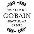 Picture of Cobain Wood Mounted Address Stamp