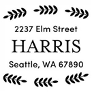 Picture of Harris Wood Mounted Address Stamp