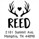 Picture of Reed Wood Mounted Address Stamp