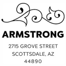 Picture of Armstrong Wood Mounted Address Stamp