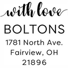 Picture of Bolton Wood Mounted Address Stamp