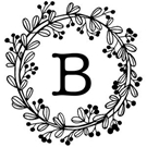Picture of Bennet Wood Mounted Monogram Stamp