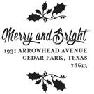 Picture of Merry Wood Mounted Holiday Stamp