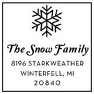 Picture of Snow Wood Mounted Holiday Stamp