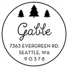 Picture of Gable Wood Mounted Holiday Stamp