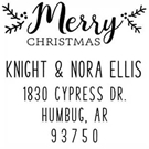 Picture of Knight Wood Mounted Holiday Stamp