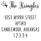Picture of Kringle Wood Mounted Holiday Stamp