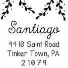 Picture of Santiago Wood Mounted Holiday Stamp