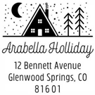 Picture of Arabella Wood Mounted Holiday Stamp
